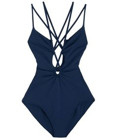 Navy Cut-Out 1 Piece