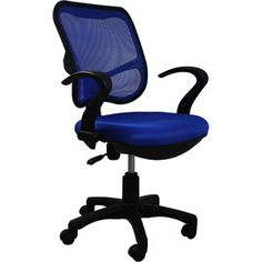 Phoenix Task Chair with Arms, Blue or Dark Gray $49