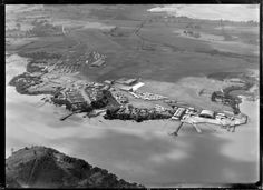 Royal New Zealand Air Force Station, Hobsonville, Auckland region, showing view from north-east Auckland, Armed Forces, New Zealand, Air Force, Aviation, Scenery, Special Forces, Landscape, Paisajes