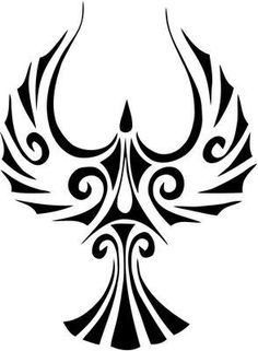 Tribal Phoenix Bird Decal Sticker for windows, computers, flat surface. Tribal Tattoos, Body Art Tattoos, Bear Tattoos, Motorcycle Decals, Phoenix Tattoo Design, Filipino Tattoos, Phoenix Bird, Affinity Designer, Tattoo Stencils