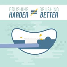 Dental Tip:  Be Careful...BRUSHING HARDER is NOT better! Over-brushing causes sensitive teeth and receding gums.