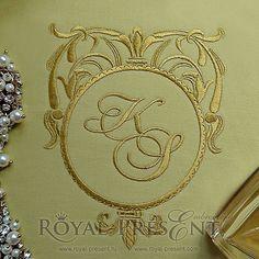 Machine Embroidery Design gold blank monogram #monogram #monogramblanks #embroidery #machineembroiderydesign #вышивкамашинная #дизайнмашиннойвышивки