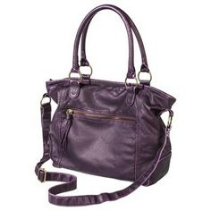 Mossimo Supply Co. Solid Satchel - Purple