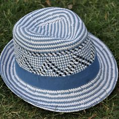 716f927a Straw Fedora with Cut Out Weave by Mitchell's Cap Co. Straw Fedora, Straw  Hats
