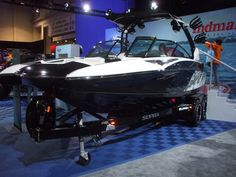This boat was part of the announcement with Indmar Marine Engines. It's equipped with a marine version of the Ford Raptor 6.2L.