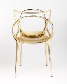 Kartell releases glossy metal finishes!! Obsessed! (gold, bronze, silver, gunmetal grey, and copper)