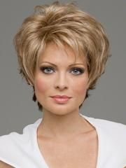 Fashion New womens womens Cut Hairstyle Synthetic Wigs Short Hair Curly Brown Wigs with Bangs for Women Wig Cap Perruque Natur Short Human Hair Wigs, Short Curly Hair, Short Hair Cuts, Curly Hair Styles, Pixie Hair, Gold Blonde, Blonde Hair, Cute Hairstyles For Short Hair, Wig Hairstyles
