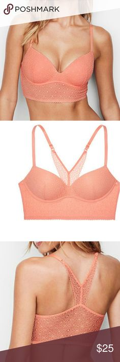 New Victorias Secret lace easy pushup bra 34b 32 New in bag, pretty tight for a 34b, pullover style Victorias Secret Intimates & Sleepwear Bras