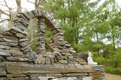 This is a rough prototype for an installation this summer. The installation will be twice this size. stone peace sign, stone art, gardening, stone wall, Vermont