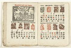 Bladzijden met de voorspelling voor de maand augustus, 1712, anoniem, weduwe Slegers, onbekend, 1712