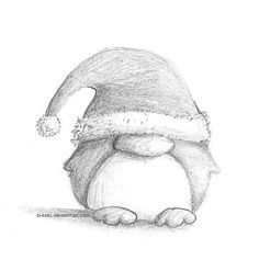 Great Photos christmas drawing ideas Thoughts : ometimes I prefer the particular Three Pose Tactic in shape pulling sessions. Within it, are applying three very diversified pulling methods that will. Cute Animal Drawings, Pencil Art Drawings, Cool Art Drawings, Doodle Drawings, Art Drawings Sketches, Cartoon Drawings, Doodle Art, Easy Drawings, Drawing Ideas