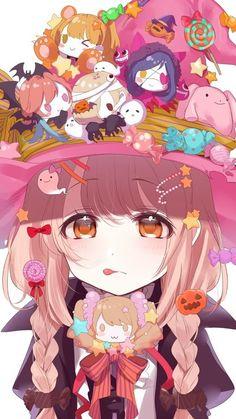 รูปภาพ anime, kawaii, and color+colorful+cutie - Anime/Manga - Manga Kawaii, Loli Kawaii, Kawaii Anime Girl, Kawaii Art, Anime Art Girl, Anime Chibi, Anime Oc, Manga Anime, Anime Witch
