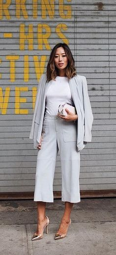 A Matching Blazer and Culottes Set