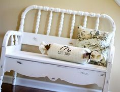 Benches! @Jenny Filetti  don't you have this beadboard from a crib...i want this soo bad!