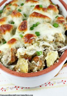 Roasted Mozzarella Potatoes - Mozzarella cheese takes perfectly roasted potatoes to delicious new heights. Yukon gold potatoes roasted with Italian seasonings then smothered in mozzarella cheese are baked until golden brown and gooey. You don't often see potatoes and mozzarella used a lot together but I'm here to say they are a happy marriage. There's more to life for mozzarella than pizza and pasta.