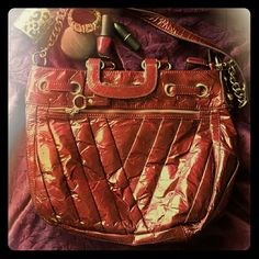 Burgundy Bag Shoulder/ Messenger Bag in a wine/burgundy color. Like new! Kathy Van Zeeland Bags Shoulder Bags