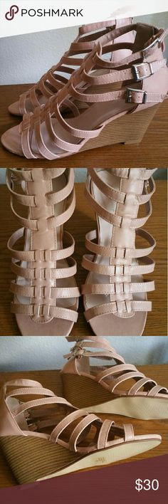 Ladies pink heels New tried on, never worn. Really cute heel. Great fir dress up or with jeans... Shoes Heels