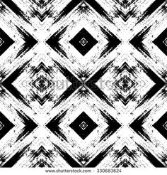 Vector abstract seamless pattern, geometric ornament. Tribal ethnic background, graphic repeating texture. Black and white