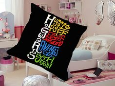 Hogwarts and its four houses Pillow Case Custom Zippered Case