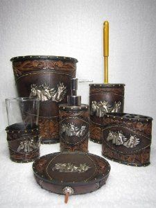 Five Piece Horse Themed Rush Hour Bathroom Set Western Pinterest Bathrooms Decor And Package Deal