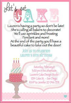 63a0da01da5f082652630b799db7519b cake decorating set cake decorating party birthdays baking birthday party invitations, preppy baking, kitchen,Cake Decorating Birthday Party Invitations