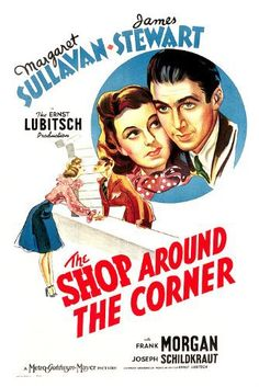 The Shop Around the Corner (1940)  Two employees (Jimmy Stewart, Margaret Sullivan) at a gift shop can't stand each other. Little do they know that they are pen pals with each other and through those letters have fallen in love. One of my favorite directors, Ernst Lubitsch, made this film. It's a brilliant comedy with robust dialogue and a creative plot that takes a few twists and turns.