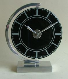 Stunning Art Deco Streamline Modernist Clock
