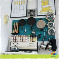 Een leuk idee om je keuken op orde te krijgen is het gebruiken van een gereedschapswand. Makkelijk verstelbaar, goedkoop en je kunt er heel erg veel op kwijt! Een gereedschapswand kun je onder andere vinden bij de Gamma!