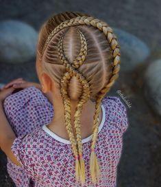Dutch lace braid and crossed dutch braids . . . . . #braid #braids #braided #braiding #braidideas #braidinspo #peinado #tranças #penteados…