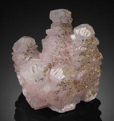 Manganoan Calcite with Pyrite - Manaoshan Mine, Dongpo Ore Field, Suxian Dist., Chenzhou Pref., Hunan Province, China