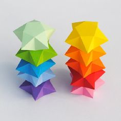 Make these cut and fold paper stars. (Different sized templates included)