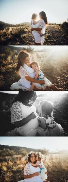 These Mother-daughter maternity photos are my favorite!! <3
