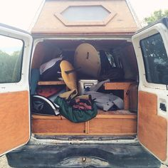 van-life: Model: Cyrus Sutton's Ford Econoline Location: Carpenteria California Photo: Foster Huntington #poler #polerstuff #campvibes