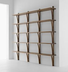 Wall-mounted shelf / contemporary / oak / walnut MORAAR by Davide Cumini Passoni Nature