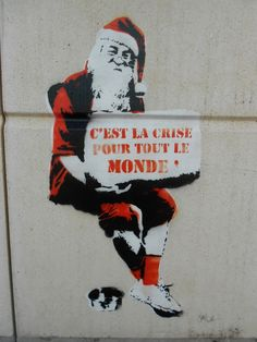 "PARIS - Street art Bordeaux - ""this is a crisis for everyone."" - Tis the season of giving"