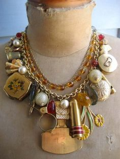 Vanity Fair - In Every Womans Handbag - A Vintage Charm Necklace RESERVED. Etsy.