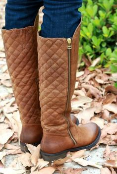 Adore these quilted boots