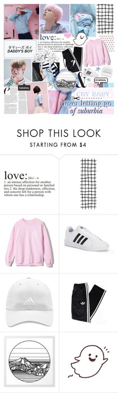 """""""wonder on repeat"""" by taeangel ❤ liked on Polyvore featuring WALL, adidas and Old Navy"""