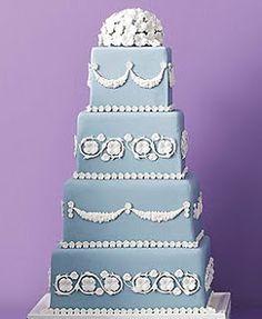 Wedding Cakes Pictures: Wedgwood Blue Wedding Cakes