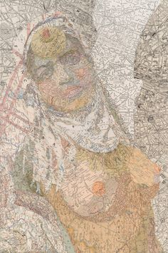 Bulgaria on/in her head ;) new map-formed artworks by matthew cusick