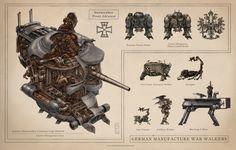 Leviathan Vehicles: German War Walkers. Keith Thompson