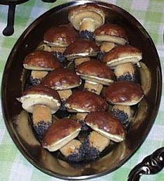 Mushroom Cookies Recipe – Valya's Taste of Home - New ideas Polish Desserts, Polish Recipes, Polish Food, Cookie Recipes, Dessert Recipes, Bulgarian Recipes, Xmas Food, Dessert For Dinner, How Sweet Eats