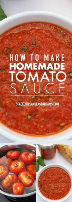 This simple, fresh homemade tomato sauce is the perfect partner for all your Italian recipes. Whether you use canned tomatoes or fresh tomatoes, the recipe to make the tomato sauce is very easy but the Pasta Recipes, Dinner Recipes, Best Tomato Sauce Recipe, Spaghetti Recipes, Potato Recipes, Casserole Recipes, Crockpot Recipes, Soup Recipes, Breakfast Recipes