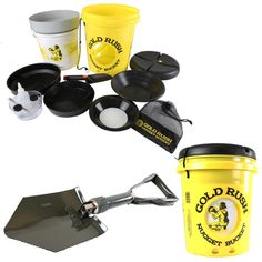 The complete kit with the metal folding shovel. Great for kids and adults!