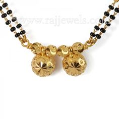 #Wati #mangalsutra necklace with twin circular wati pendant in #22Karat yellow gold. - See more at: https://www.rajjewels.com/duplex-wati-22k-gold-mangal-sutra-gms9653.html#sthash.6mHJPCGr.dpuf