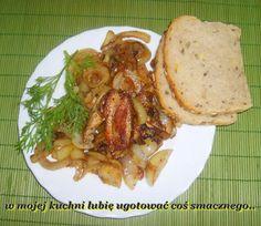 W Mojej Kuchni Lubię..: boczek z cebulą na śniadanie...