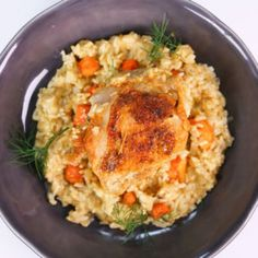 Greek-Style Chicken and Rice Recipe -- Michael Symon - The Chew The Chew Recipes, Rice Recipes, Cooking Recipes, Yummy Recipes, Recipies, Dinner Recipes, Cooking 101, Savoury Recipes, Greek Style Chicken