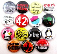 Hitchhiker's Guide to the Galaxy button set