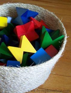 DIY storage basket made from rope!  For Hantaran Box maybe?
