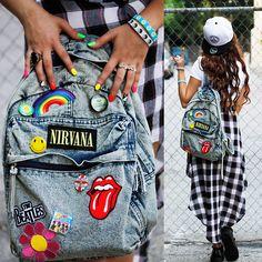 Diy (Patched) Backpack, Plaid High Lo, Jawbreaking Snapback, Jac Vanek Bracelets, Creepers